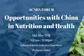 Opportunities with China in Nutrition and Health